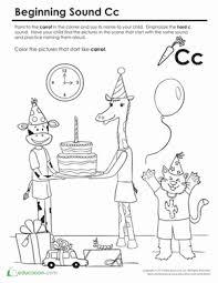 beginning sounds coloring sounds like cat worksheets kids