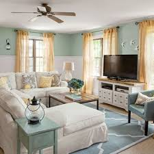 Coastal Cottage Family Room Before  After Cottage Living Rooms - Family room pictures