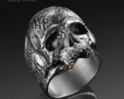 modern skeleton ring holder images Memento mori ring etsy jpg