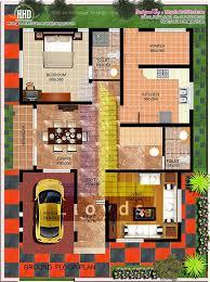 2000 sq feet villa floor plan and elevation kerala home design