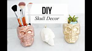 Skull Decor 3 Diy Halloween Decor Dollar Store Skulls Diy Youtube