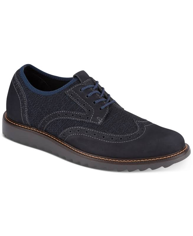 Dockers Hawking Knit/Leather SMART SERIES Wingtip Oxford Shoe