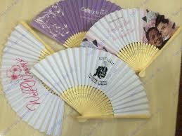 wedding fans in bulk printing paper fans 1 side print on fan face company logo print