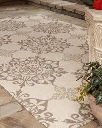 Horchow Outdoor Rugs Floral Tile Indoor Outdoor Rug