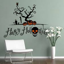 Halloween Skull Decorations Removable Diy 3d Halloween Skull Decorative Wall Sticker Black