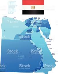 Map Of Egypt And Africa by Map Of Egypt States Cities And Flag Stock Vector Art 165801288