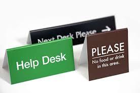 Custom Desk Plaque Desktop Name Plates Desk U0026 Counter Office Signs Medical Office