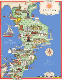 Regional Map Of Italy by Calabria Tourist Map