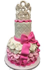pink ruffle scake png