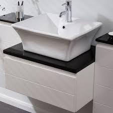 square countertop basin 500mm white ceramic sink 1 central tap