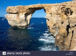 Azure Window by The Zerka Or Azure Window At Dwejra Park On Gozo Malta Is A