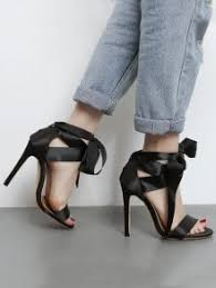 ribbon heels satin stiletto heel ribbon sandals black sandals 38 zaful