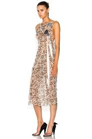 calvin klein 205w39nyc printed cupro gauze midi dress in green