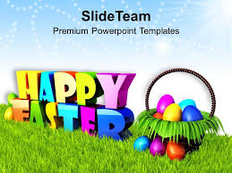 Easter Egg Decorating Ppt by Sermon Easter Sunday Wishing Happy With Basket Of Eggs Powerpoint