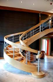 Contemporary Handrails Fascinating Homes Design With Spiral Shape Staircases With Wooden