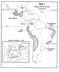 aztec mayan inca map and africans in the and