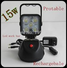 rechargeable magnetic work light 4pcs lot 15w 5x3led rechargeable led work light fog l with