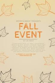 customizable design templates for fall event flyer template