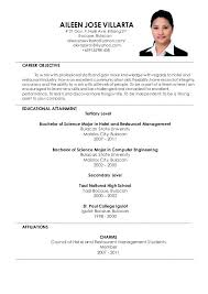 In Resume Career Objective Sample Of Objectives In Resume For Hotel And Restaurant Management
