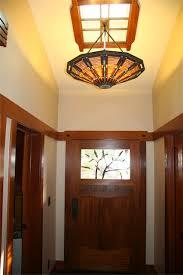 Front Door Chandelier Craftsman Home Remodeling Finish Photos Interior