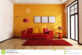 red and orange room home design