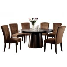 Round Espresso Dining Table Cuano Espresso Round Dining Table