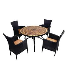 europa santa susanna table with 4 stockholm chairs in black