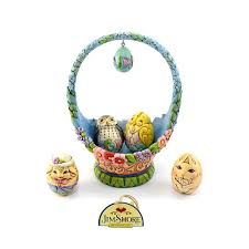 jim shore easter baskets basket 21 cm jim shore 4041776