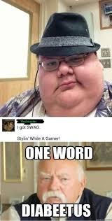 One Word Diabeetus Meme - the best diabeetus memes memedroid