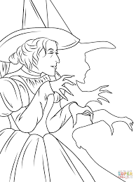 wizard of oz wicked witch coloring page free printable coloring