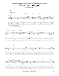guardian angel guitar tab by john mclaughlin al di meola paco de