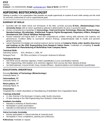 professional fresher resume biotechnologist professional resume sles pertaining to