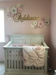 Girls Nursery Wall Decor by Bedroom Nursery For Babies With Newborn Room Ideas Also Baby Cot