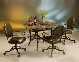 Kitchen Table And Chairs With Casters by Kitchen Iron Chair Dining Room Table And Chairs Upholstered