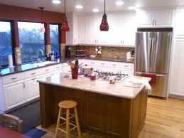 Grey And Red Kitchen Designs - amazing two tone grey kitchen cabinets in white kitchen design