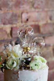 unique cake topper neo vintage industrial wedding vintage industrial light bulb