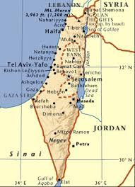 negev desert map map