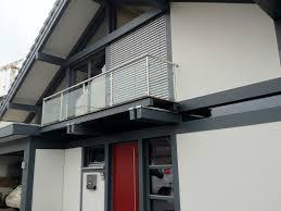 edelstahl balkon mit glas balkongelaender edelstahl vsg glas balkon gelaender ebay