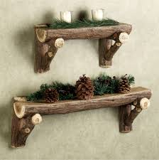 Decorative Wall Shelf Sconces Rustic Timber Wall Shelf Rustic Wood Furniture Pinterest Log