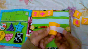 busy book quiet book felt fabric for children youtube