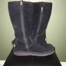 womens ugg boots with zipper 70 ugg shoes black ugg boots with side zipper from