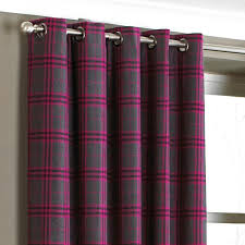 Pink Tartan Curtains Appealing Pink Tartan Curtains Decor With Zermatt Tartan Check