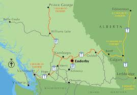 map of bc maps enderby bc canada