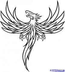 coloring pages tattoos phoenix tattoo coloring pages cio craft ideas pinterest