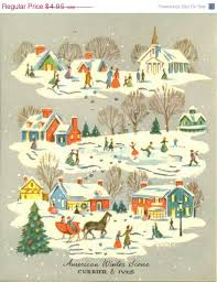 christmas cards sale vintage christmas card american winter currier and