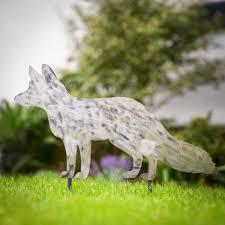 Metal Garden Art Decorative Metal Fox Garden Stake By Edgeinspired