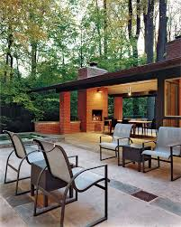 Outdoor Chimney Fireplace by Four Outdoor Fireplaces Bethesda Magazine November December