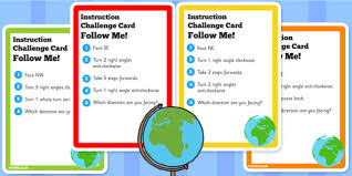Challenge Directions Following Directions Challenge Cards Direction Ks2