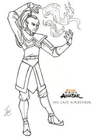 airbender coloring pages paper crafts coloring pages