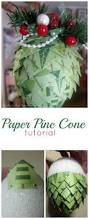 rtw paper pine cones tutorial pine cone handmade christmas and